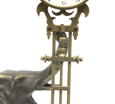 German Style Junghans Brass Elephant Swinging Clock with 8 Day Skeleton Movement 4