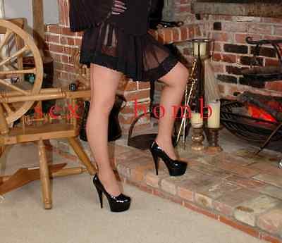 SEXY scarpe decolte Nere plateau TACCO 15 dal n. 35 al 44 fashion GLAMOUR 3