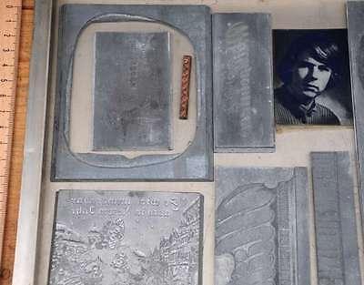 Konvolut Klischees Bleisatz Druckstock Bleiklischee Stempel Vintage Klischee alt 2