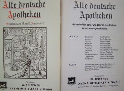 Alte deutsche Apotheken, 5 Hefte im Schuber, gebr. ,guter Zustand