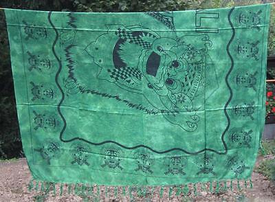 SARONG Sarung BARONG grüntöne Pareo Lava-Lava Wickeltuch Indonesien Bali neu