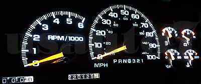 95-98 CHEVY SUBURBAN 1500 C1500 K1500 Dash Cluster Gauge WHITE SMD LED  LIGHT KIT