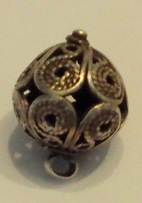 Amazing Post-Medieval Silver Pendant With Filigree # 477 3