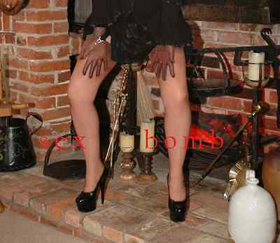 SEXY scarpe decolte Nere plateau TACCO 15 dal n. 35 al 44 fashion GLAMOUR 9