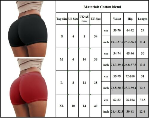 dc6eaa30f7630 Womens Gym Yoga Shorts Butt Lift Sports Fitness Stretch Hot Pants Mini  Shorts 4 4 of 12 See More
