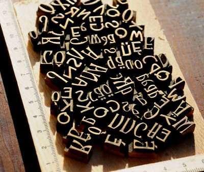 Konvolut Messinglettern Buchbinden Prägen Messingschrift Prägeschrift bookbinder