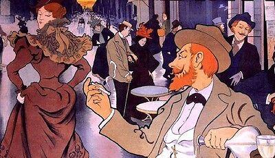 Absinthe Berthelot Henri Thiriet 1898 vintage ad style France art print