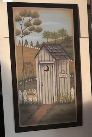 Country Bath Wooden Outhouse Bathroom Primitive Baths Wall Art Decor Wood Sign