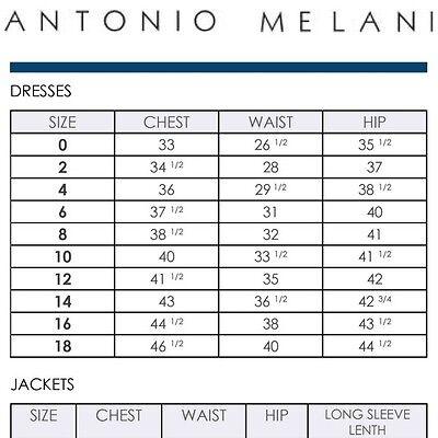 ANTONIO MELANI LEIGH Crepe Lace Dress Blueprint Size 0 2 6 8 14 NEW ...