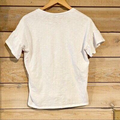 Grayson Threads L Jr Womens Radiate Love Short Ruffle Sleeve Graphic T-Shirt