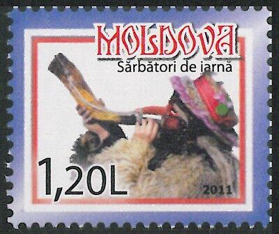 Moldova 2011 Christmas MNH Block + stamp 2