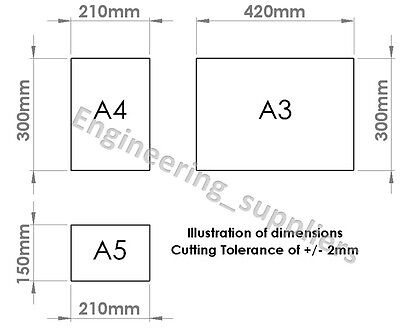 White Plasticard Styrene Sheet High Impact Polystyrene HIPS A5-A3 1, 1.5, 2, 3mm