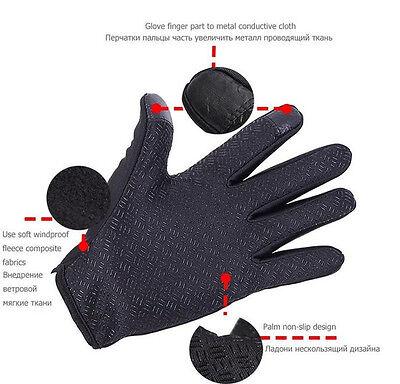 Wasserdicht Thermo Winter Handschuhe Finger Touch klappbar Sport Warm Gloves -DE 3