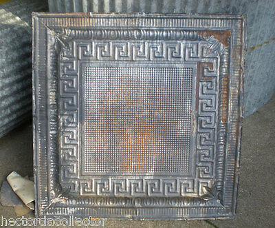 SALE Victorian Art Deco Ceiling Tin Tile Aztec Fleur De Li Chic Geometric Key 3