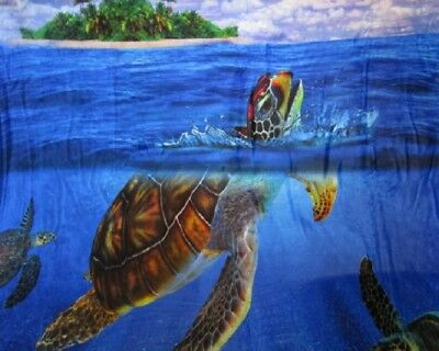 New Honu Sea Turtle Plush Fleece Throw Gift Blanket Sherpa Coral Reef Turtles