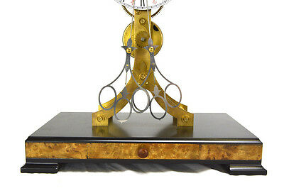 Fusee Drive Scissors Pendulum Brass Skeleton Clock - It has 2 Swinging Pendulums 5