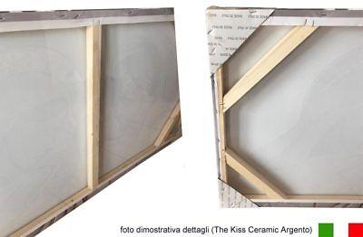 Quadro su tela Sacro Religioso Capezzale The Kiss Ceramic con Glitter | 3 misure 4