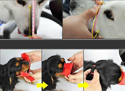 Dog Muzzle Anti Stop Bite Barking Chewing Mesh Mask Training Small Large S-XL US 7