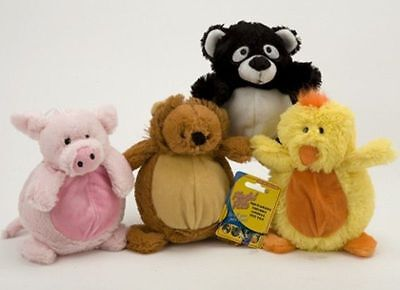 Plush Squeaky Pet Toy Chew Sound Squeaker Dog Cat Puppy Play Fetch Training Toys 2