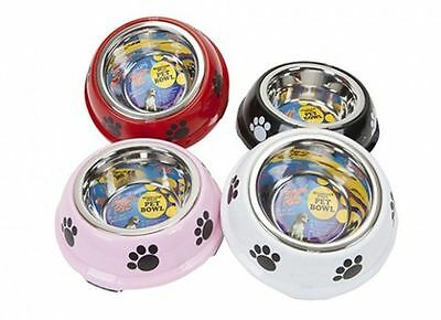 Small Stainless Steel Non Slip Pet Bowl Dog Cat Puppy Paws Food Water Feed Dish 2