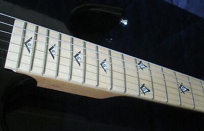 Blink 182 Tom Delonge Custom Strat BLACK PEARL+MOP Decal Inlay for BASS & GUITAR 3