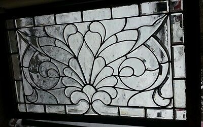 ANTIQUE leaded beveled glass window NICE!!! 2