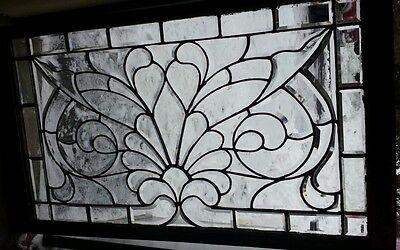 ANTIQUE leaded beveled glass window NICE!!! 2