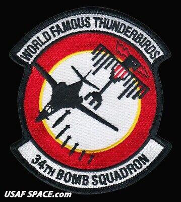USAF 34TH BOMB SQUADRON - B-1 LANCER - Ellsworth AFB, SD - ORIGINAL VEL PATCH 3