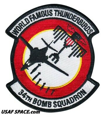 USAF 34TH BOMB SQUADRON - B-1 LANCER - Ellsworth AFB, SD - ORIGINAL VEL PATCH 2