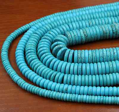 Natural Turquoise Gemstone Heishi Beads Spacer 4mm 6mm 8mm 10mm 12mm 4