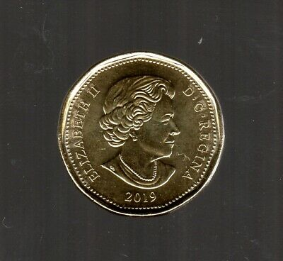 Canada 2019 Loonie Design In Unc Cond. ( From Roll ) 2