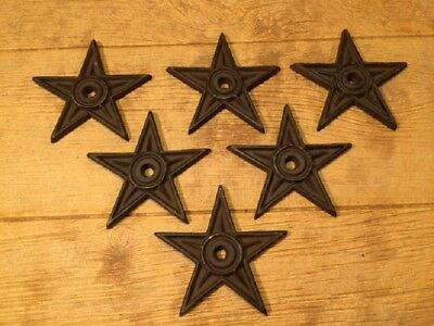 "Cast Iron Center Hole Star Anchor Plates Rustic Large 6 1/2"" wide 0170-02106 6"