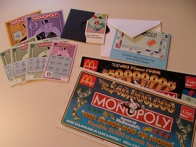 MONOPOLY Collector's Lot....2 Mugs, 2 Fridge Magnets, Greeting cards...