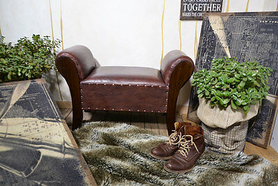 Chaise Lounge Seater Chair Bench Ottoman Pouffe Stool Brown Teak Colonial 2