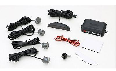 Car Reverse Parking Sensor Rear 4 Sendors LCD Display Audio Buzzer Alarm Kit