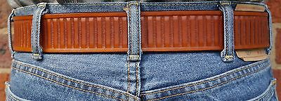 Australian Made Men/'s Heavy 15oz Leather Hand-tooled 1.75 inch wide Jeans Belt