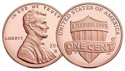 2019 P,D 1C Lincoln Shield Cent Rolls 2