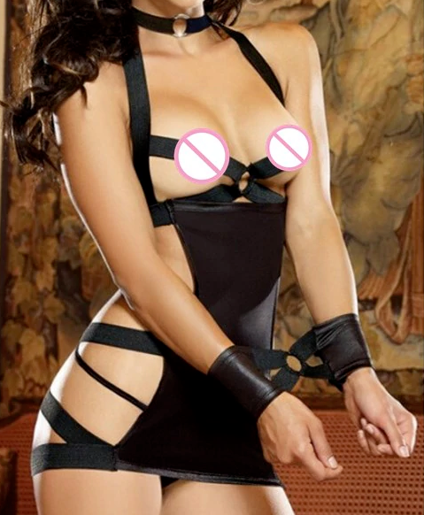 115# Sexy Bondage Kostüm SET L - XXL Fetisch Dessous inkl. String und Fessel 4