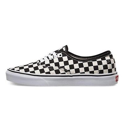 d40cb0943f ... Vans Authentic Golden Coast Checkerboard Shoes Sneakers Black White US  Size 7-10 5