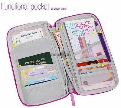 New Travel Wallet Passport Holder Document Organiser Bag Ticket Credit Card Case 2
