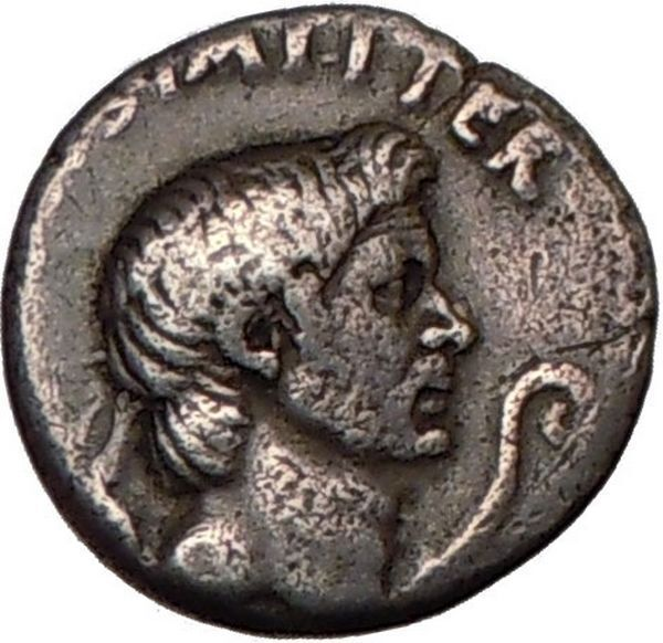 Julius Caesar Enemy Pompey the Great son Sextus NGC VF Silver Roman Coin i57690 5