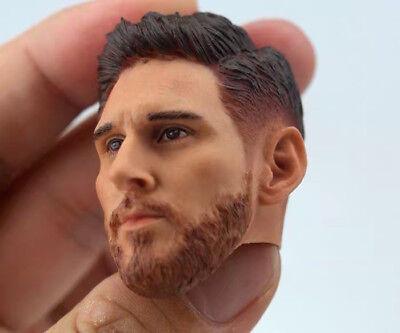"1//6 Lionel Messi Head Sculpt Barcelona Soccer for 12/"" Figure PHICEN ❶USA SELLER❶"