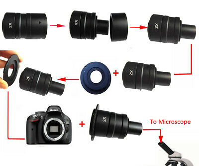 Microscope Relay Lens 2X for Canon EOS 50D 60D 70D Camera NIKON AI DSLR SLR 6