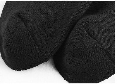 6Prs BAMBOO SOCKS Men's Heavy Duty Premium Thick Work BLACK Bulk New 5