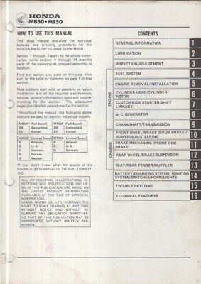 Honda Mb50 / Mt50 Original 1979 Factory Workshop Manual 2