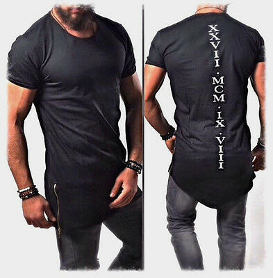 5c65a422d7e66a ... Designer Oversize T-Shirt Schwarz Weiß XXVII Herren Style Schrift Luxus  Unikat 2
