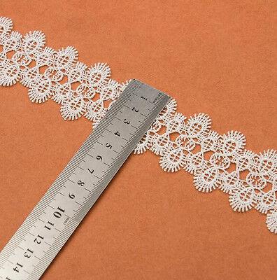 1 Yard Retro Blume Stickerei Spitze Trim Ribbon DIY Kleidung Bag Curtain Deko