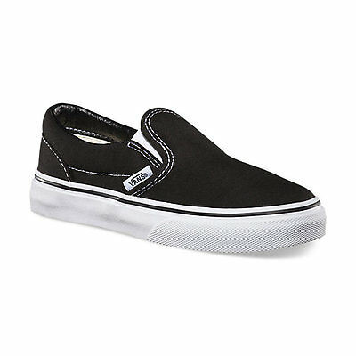 024ec78c16fdf5 ... VANS Classic Slip On Black White Shoes Kids Youths Boys Sneakers Free  Shipping 3