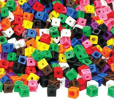 All Link Cubes 2cm 100p Maths Teacher Resource Linking Interlocking Snap 3D 3