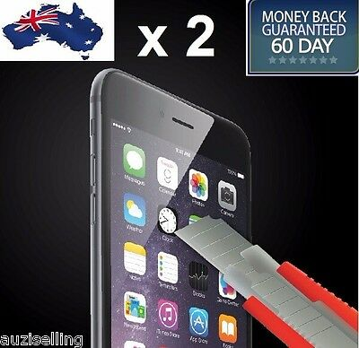 2X NUGLAS Tempered Glass Screen Protector for iPhone XS Max XR  8 7 6S Plus 5 SE 6